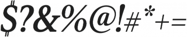 Senlot Serif Cond ExBold Italic otf (700) Font OTHER CHARS