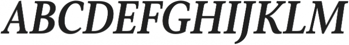 Senlot Serif Cond ExBold Italic otf (700) Font UPPERCASE