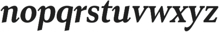 Senlot Serif Cond ExBold Italic otf (700) Font LOWERCASE