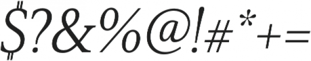 Senlot Serif Norm Book Italic otf (400) Font OTHER CHARS