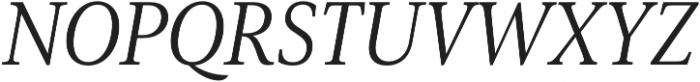 Senlot Serif Norm Book Italic otf (400) Font UPPERCASE