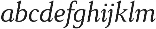 Senlot Serif Norm Book Italic otf (400) Font LOWERCASE
