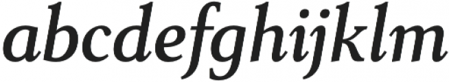 Senlot Serif Norm Demi Italic otf (400) Font LOWERCASE