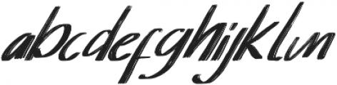 Senorita Italic otf (400) Font LOWERCASE