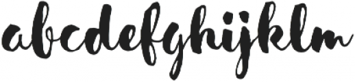 Sensa Brush Fill otf (400) Font LOWERCASE