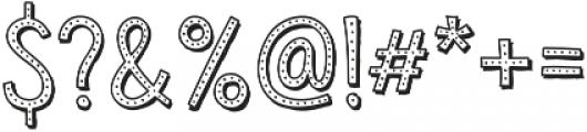Sensa Wild Dot Outline Shade otf (400) Font OTHER CHARS