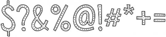 Sensa Wild Dot Outline otf (400) Font OTHER CHARS