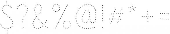 Sensa Wild Dot otf (400) Font OTHER CHARS