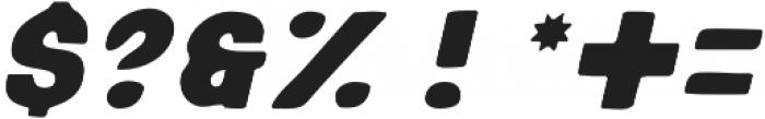 Sensi Bold Oblique Blur otf (700) Font OTHER CHARS