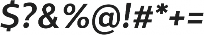 Sentral Bold Italic otf (700) Font OTHER CHARS
