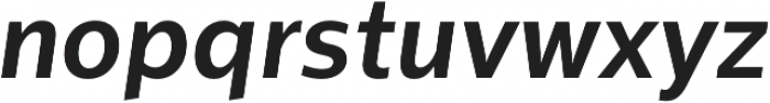 Sentral Bold Italic otf (700) Font LOWERCASE