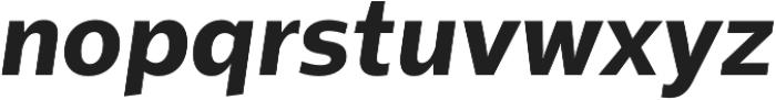 Sentral ExtraBold Italic otf (700) Font LOWERCASE