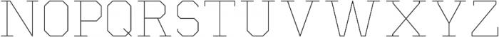 Separator Thin otf (100) Font UPPERCASE