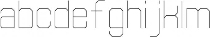 Separator Thin otf (100) Font LOWERCASE