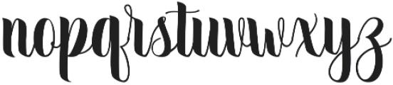 September Script otf (400) Font LOWERCASE