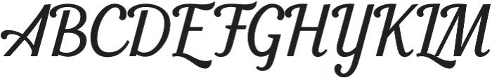 Seren Script Regular otf (400) Font UPPERCASE