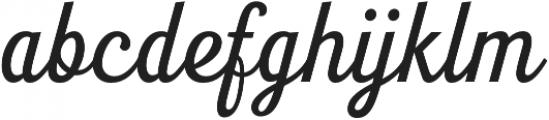 Seren Script Regular otf (400) Font LOWERCASE