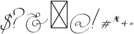 Serenity Blush Regular otf (400) Font OTHER CHARS