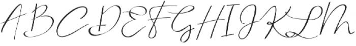 Serenity Blush Regular otf (400) Font UPPERCASE