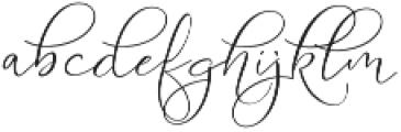 Serenity Blush Regular otf (400) Font LOWERCASE