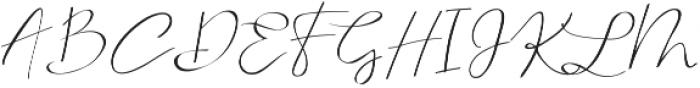 Serenity Blush Regular ttf (400) Font UPPERCASE
