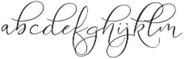 Serenity Blush Regular ttf (400) Font LOWERCASE