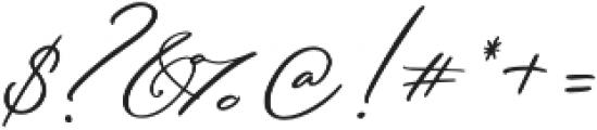 Serenity Script Bold otf (700) Font OTHER CHARS