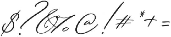 Serenity Script Slanted otf (400) Font OTHER CHARS