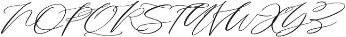 Serenity Script Slanted otf (400) Font UPPERCASE