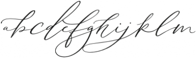 Serenity Script Slanted otf (400) Font LOWERCASE