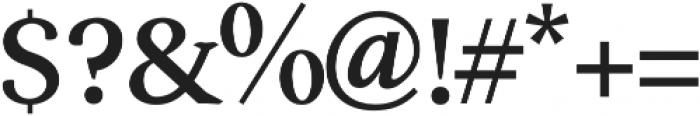 Serenity Serif Bold otf (700) Font OTHER CHARS