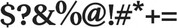 Serenity Serif Heavy otf (800) Font OTHER CHARS