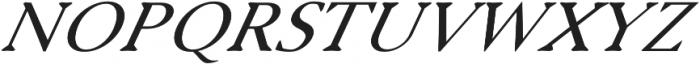 Serenity Serif Italic otf (400) Font UPPERCASE