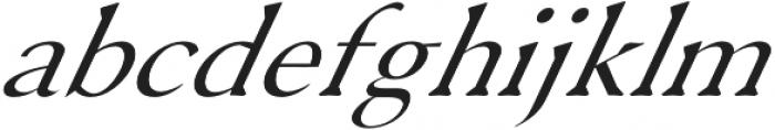 Serenity Serif Italic otf (400) Font LOWERCASE