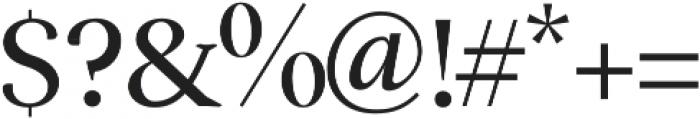 Serenity Serif otf (400) Font OTHER CHARS