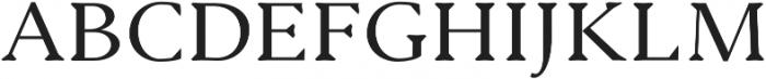 Serenity Serif otf (400) Font UPPERCASE