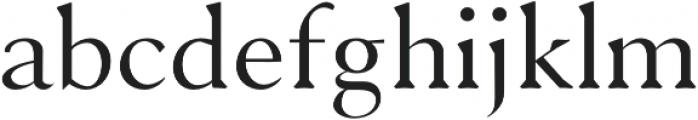 Serenity Serif otf (400) Font LOWERCASE