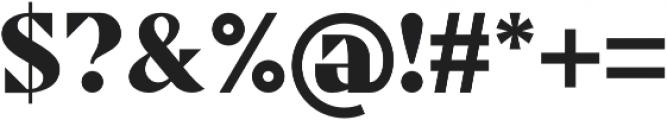 Sergio PW Regular otf (400) Font OTHER CHARS