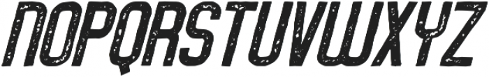 Service Station Rough Italic otf (400) Font UPPERCASE
