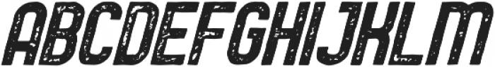 Service Station Rough Italic otf (400) Font LOWERCASE