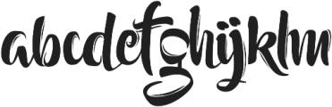 Setialah otf (400) Font LOWERCASE