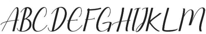 Seullanga Regular otf (400) Font UPPERCASE