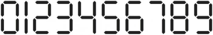 Seven Segment Regular otf (400) Font OTHER CHARS