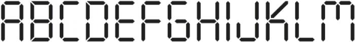 Seven Segment Regular otf (400) Font UPPERCASE