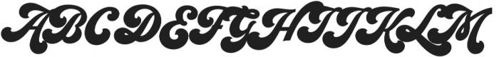 Seventies Regular otf (400) Font UPPERCASE
