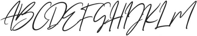 Seville Script Slant Regular otf (400) Font UPPERCASE
