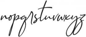 Seville Script Slant Regular otf (400) Font LOWERCASE