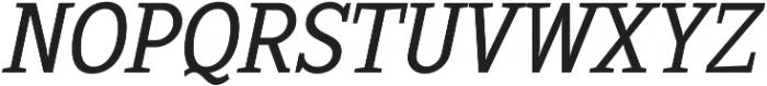 Sextan Book Italic otf (400) Font UPPERCASE