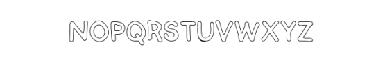 SEMERU-Outline.ttf Font LOWERCASE