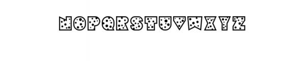 Sebasengan-Dot.ttf Font UPPERCASE